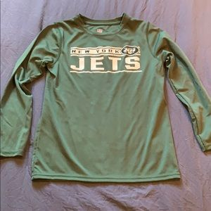Boys size 7 NFL JETS DRI- FIT shirt